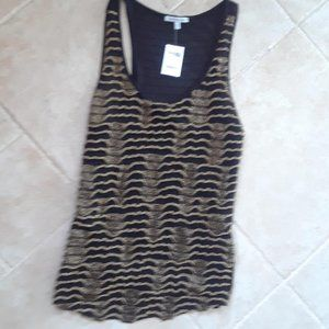 Black and Gold Thread Dressy Top